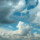Cloudy Sky With Fluffy Clouds. Natural Background - PhotoDune Item for Sale