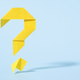 Floating yellow origami question mark with drop shadow - PhotoDune Item for Sale