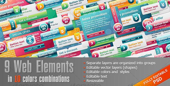 Bright Web Elements - Web Elements