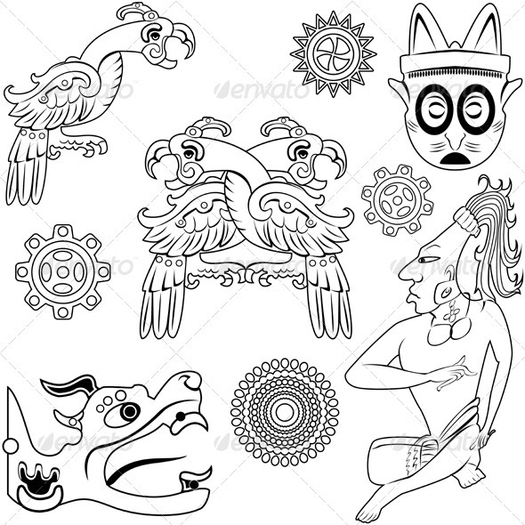 Ancient american design - Decorative Symbols Decorative