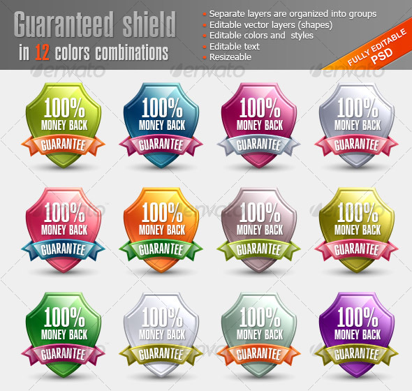 Glossy Guaranteed Shield - Miscellaneous Web Elements