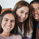 Group of multiracial young friends taking a selfie at home - PhotoDune Item for Sale