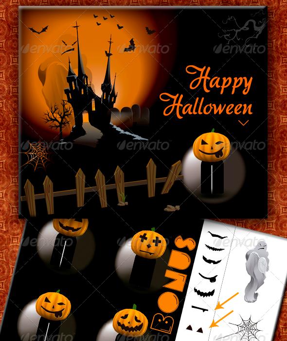 Hallowen Pumpkin - Halloween Seasons/Holidays