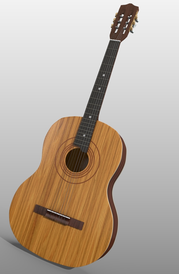 Classic guitar - 3DOcean Item for Sale