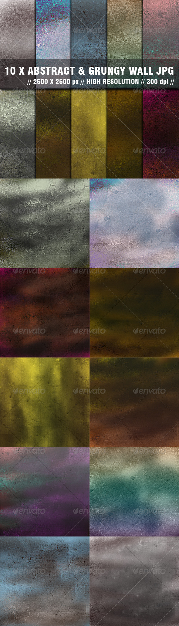 Abstract Grunge Wall - Abstract Backgrounds