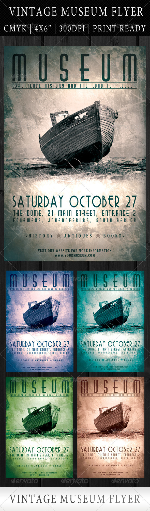 Vintage Museum Flyer Template - Events Flyers