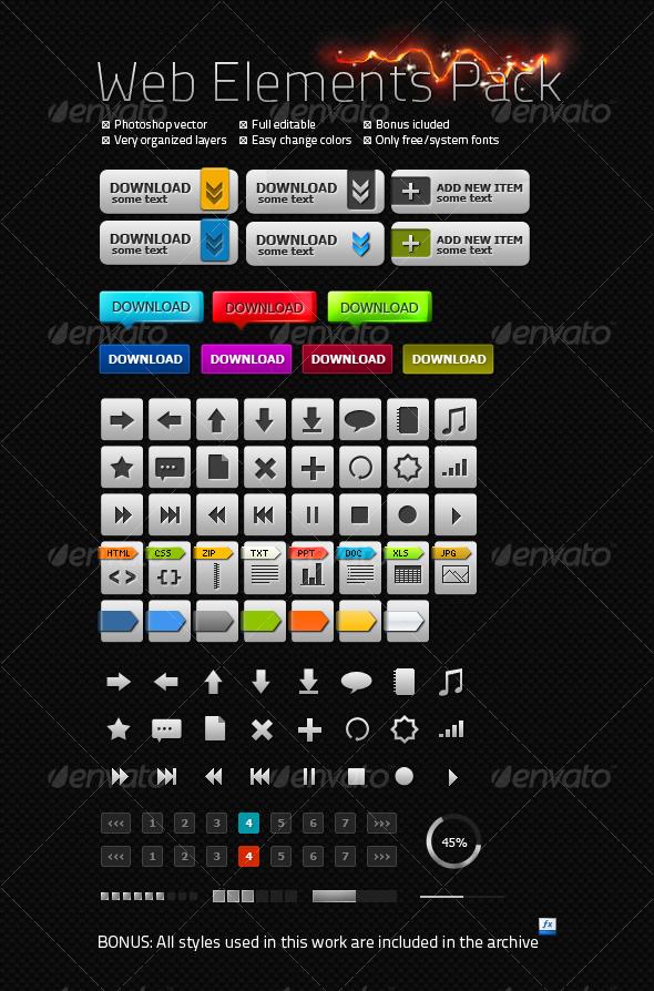 Carbon Web Elements Pack - Miscellaneous Web Elements