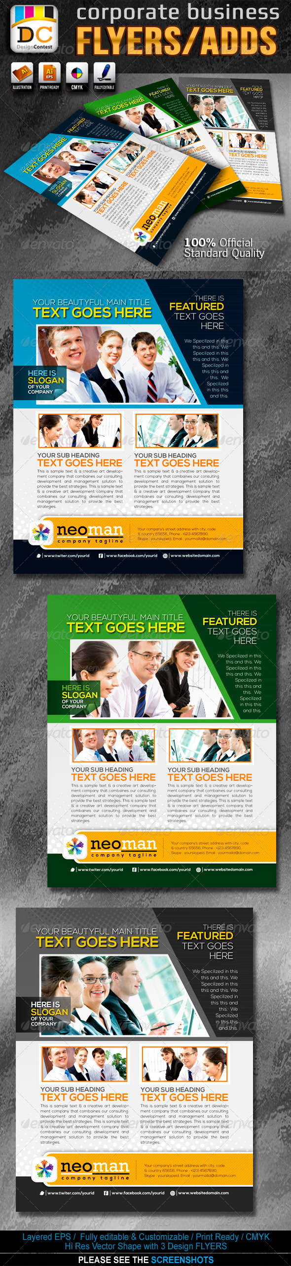 Neo Man Corporate Business Flyers/Adds - Corporate Flyers