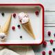 Berry ice cream in waffle cones - PhotoDune Item for Sale