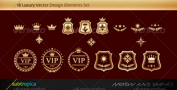 Vector Luxury Design Elements Set - Characters Vectors