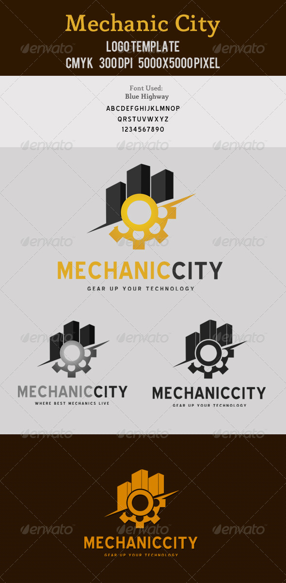 Mechanic City Logo Template - Buildings Logo Templates