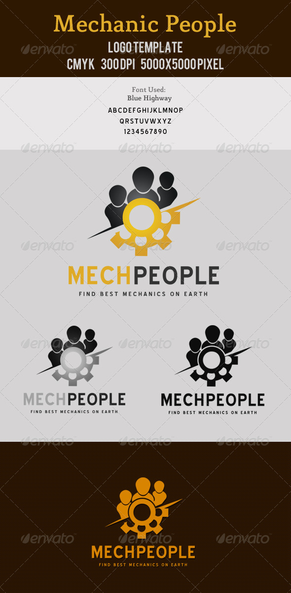 Mechanic People Logo - Symbols Logo Templates