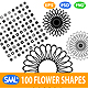 100 Vector Flower Shapes - GraphicRiver Item for Sale