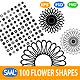 100 Vector Flower Shapes - GraphicRiver Item for Sale