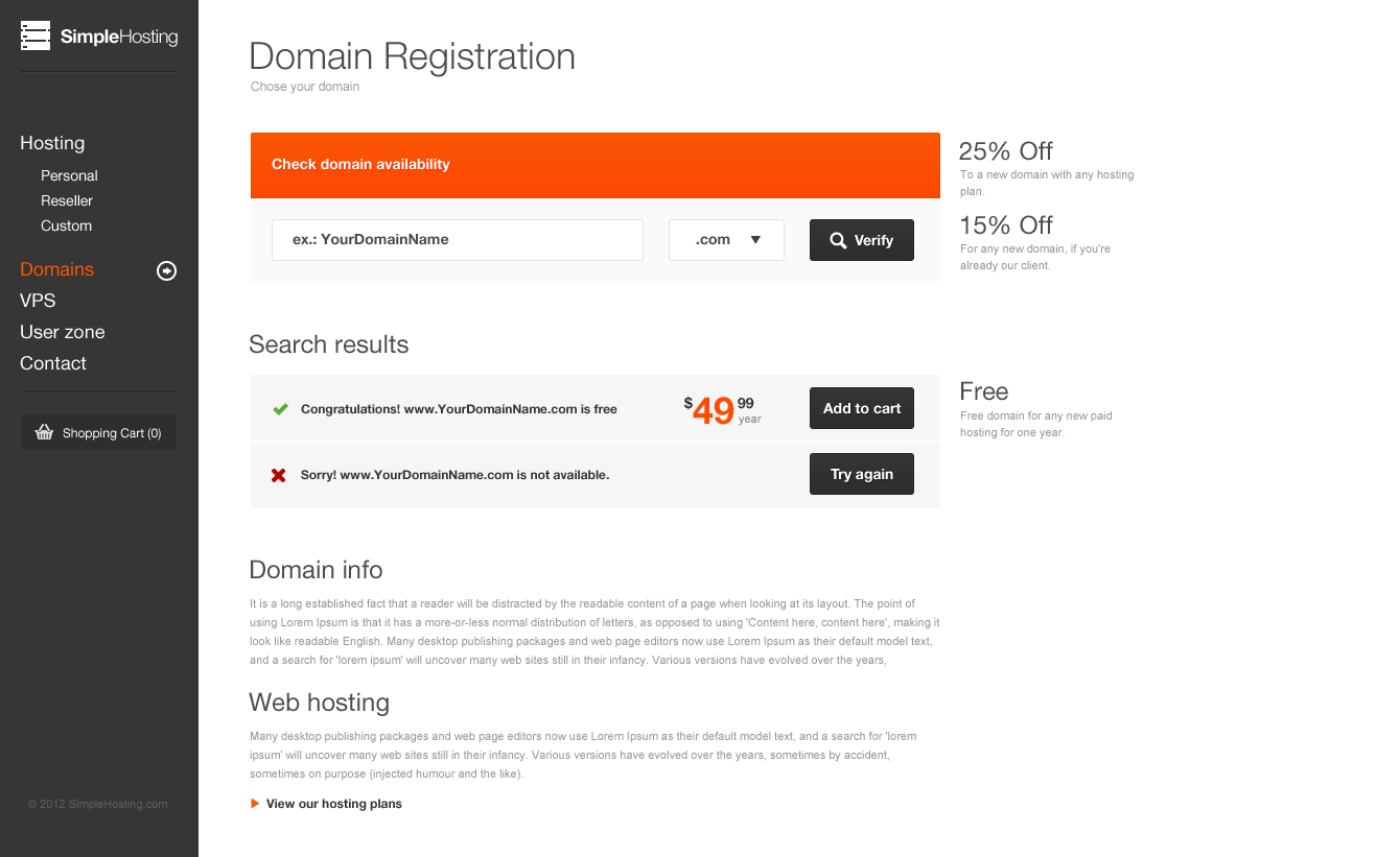 Simple Hosting Modern Template By Clapat Themeforest