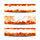 Set of Colorful Autumn Leaves Banner or Web Header - GraphicRiver Item for Sale