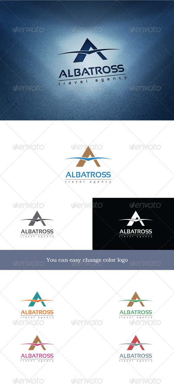 Albatross Travel - Letters Logo Templates
