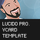 Lucido Professiona Vcard Template - ThemeForest Item for Sale