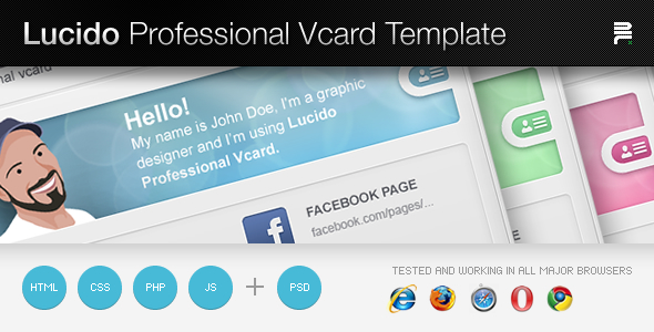Free Download Lucido Professiona Vcard Template Nulled Latest Version