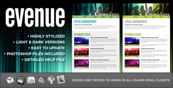 Free Download evenue :: Custom email template Nulled Latest Version