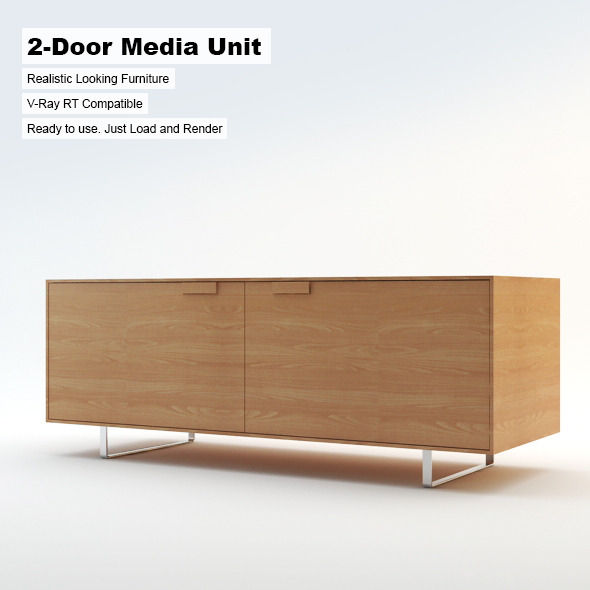2-Door Media Unit - 3DOcean Item for Sale