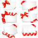 Set of beautiful cards with red gift bows - GraphicRiver Item for Sale