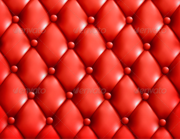 Red button-tufted leather background - Backgrounds Decorative