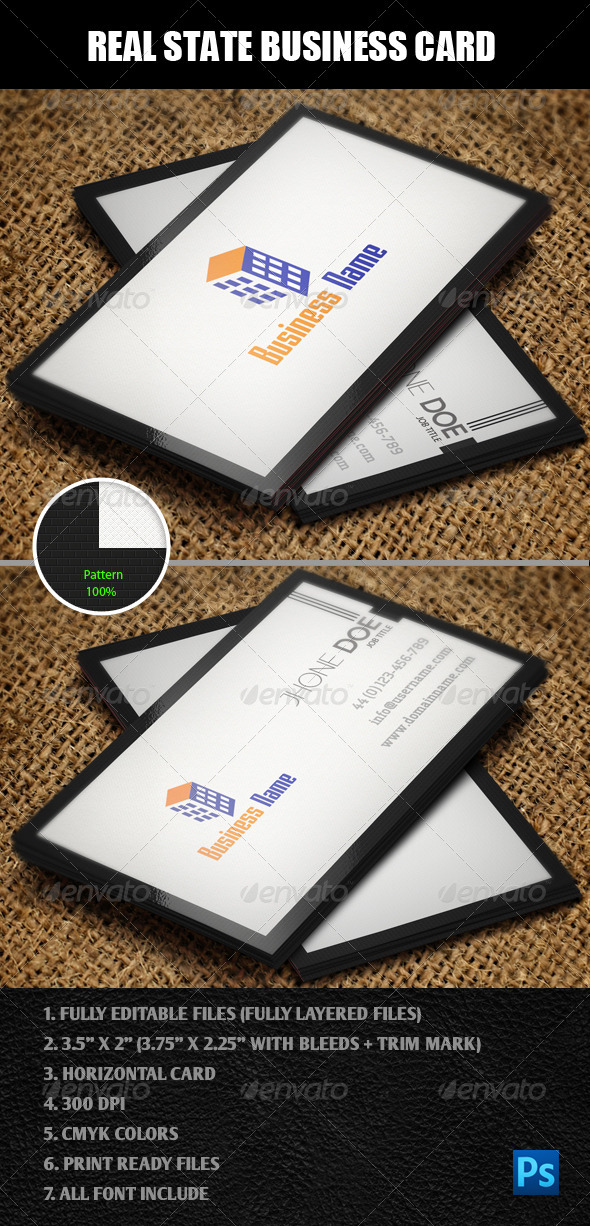 Real State Business Card - Corporate Business Cards