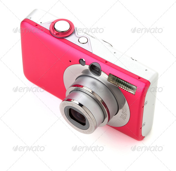 Compact digital camera - Stock Photo - Images