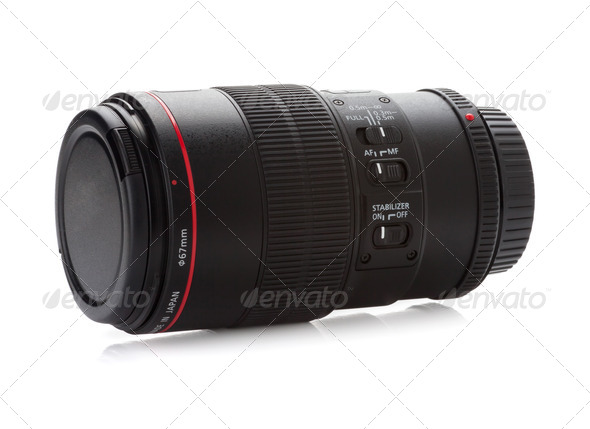 Professional photo lens - Stock Photo - Images