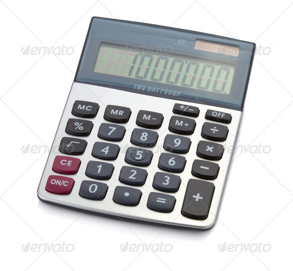 Office digital calculator - Stock Photo - Images