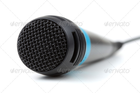Microphone with cable - Stock Photo - Images
