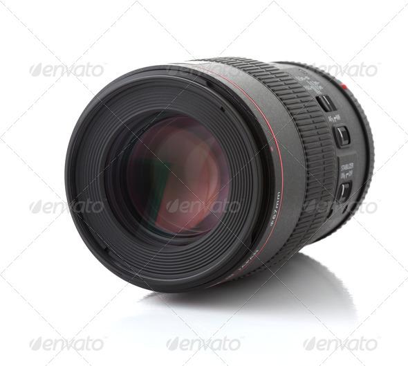 Professional photo lens - Stock Photo - Images