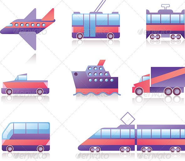 Transportation Icons - Web Elements Vectors