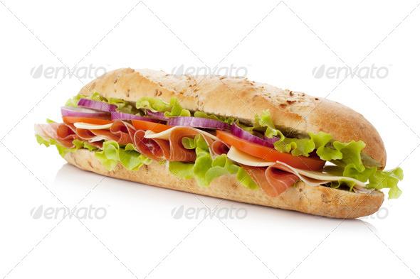 Long sandwich - Stock Photo - Images