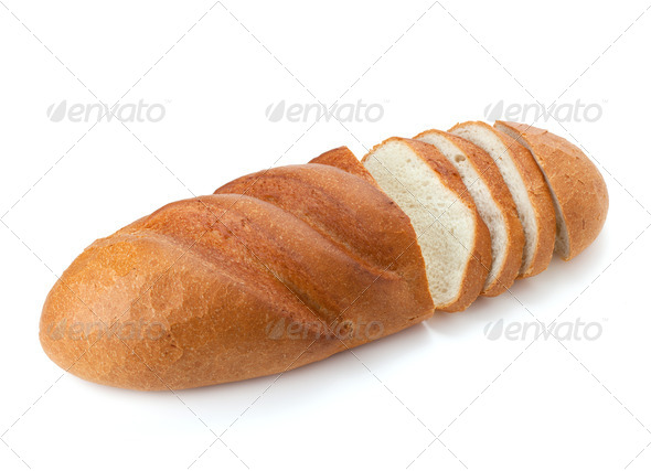 Sliced long loaf bread - Stock Photo - Images