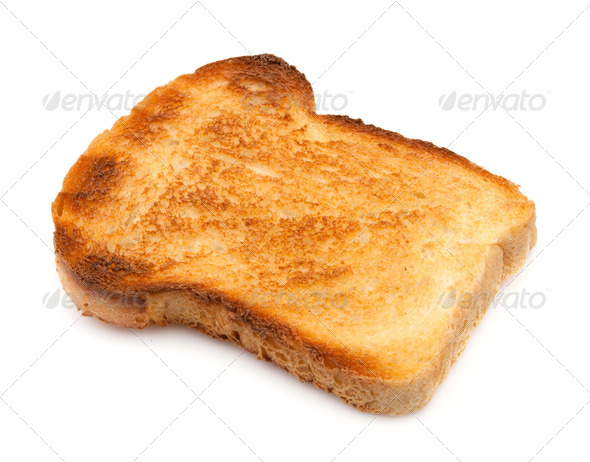 White bread toast - Stock Photo - Images