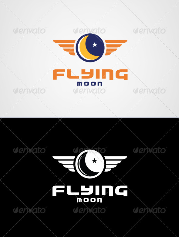 Flying Moon Logo Template - Nature Logo Templates