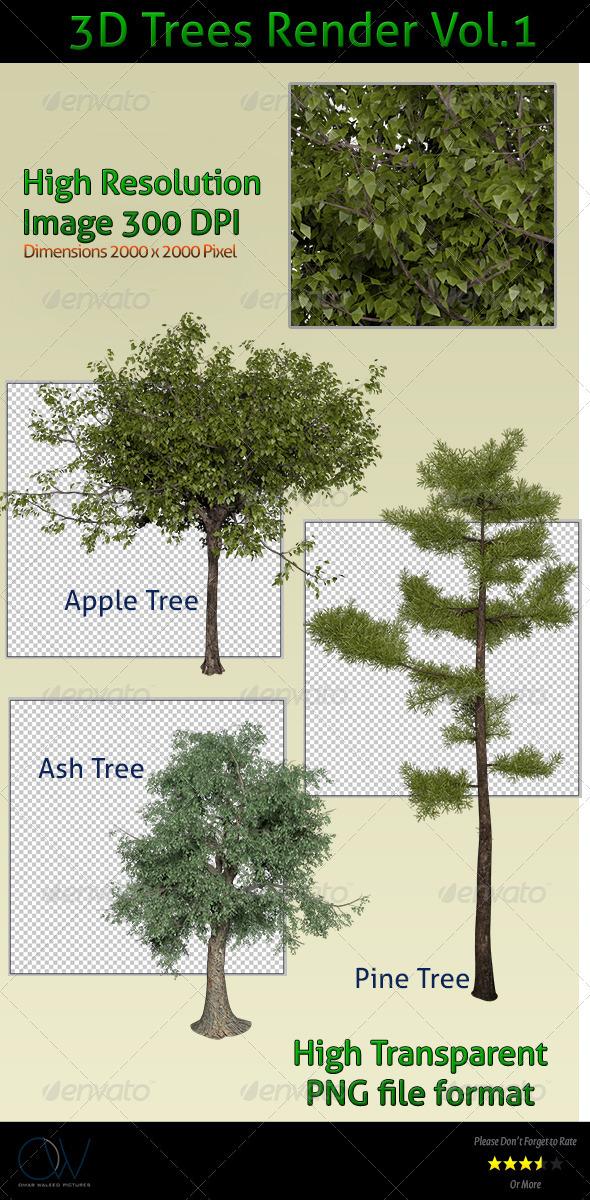 Trees 3D Render - 3D Renders Graphics