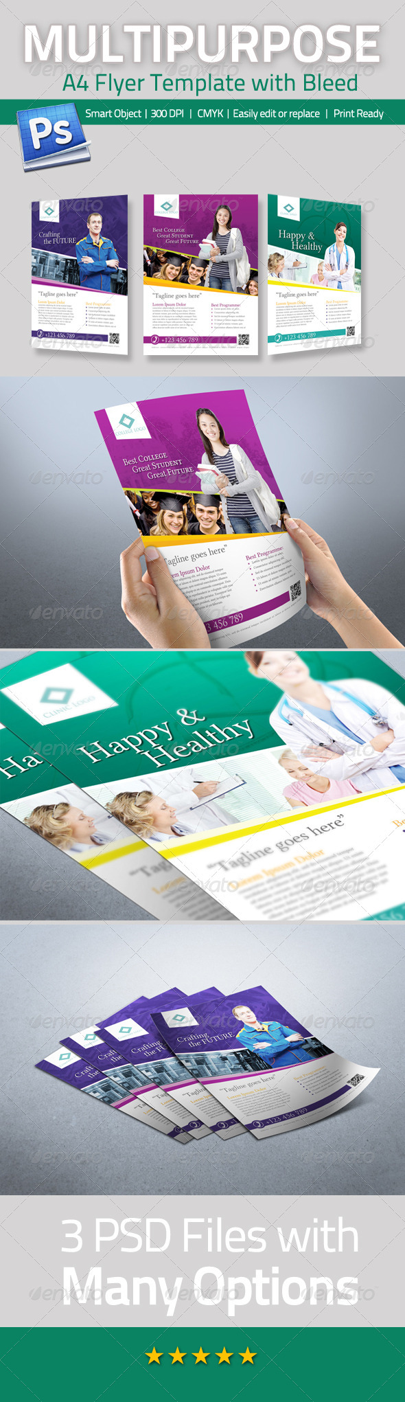 Multipurpose A4 Flyer Template - Corporate Flyers