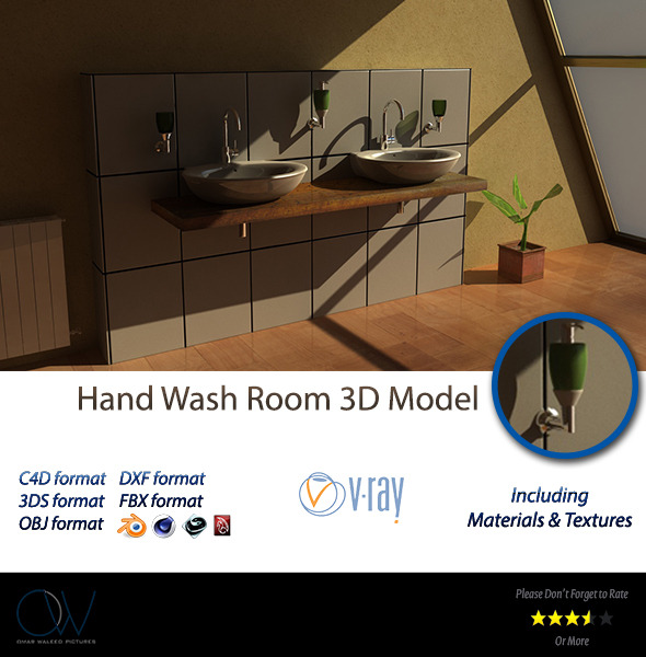 Hand Wash 3D Model - 3DOcean Item for Sale