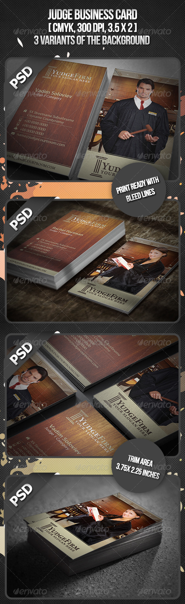 Judge Business Card - Industry Specific Business Cards
