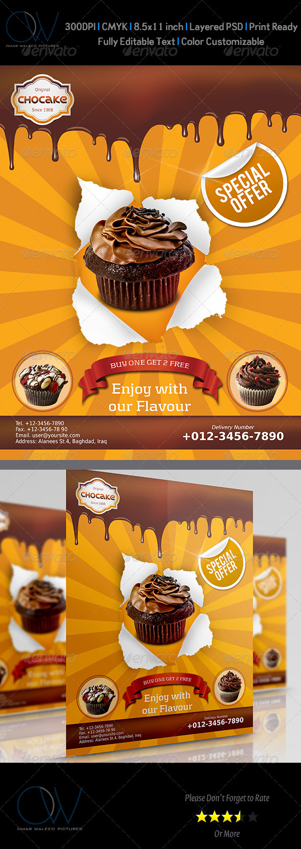 Cake Flyer - Restaurant Flyers