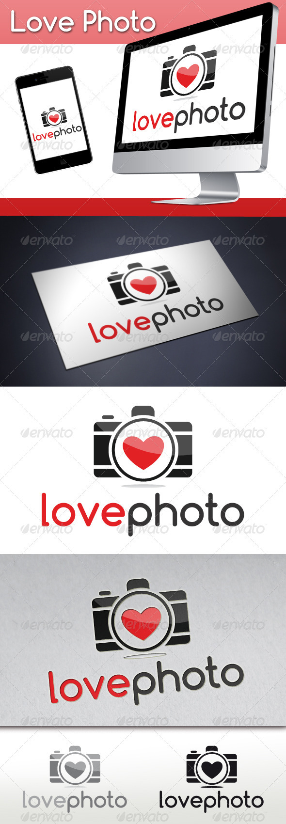 Photography Love Logo - Objects Logo Templates