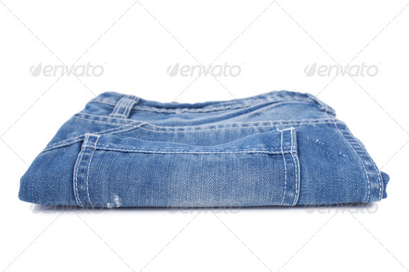 Stack of blue jean - Stock Photo - Images