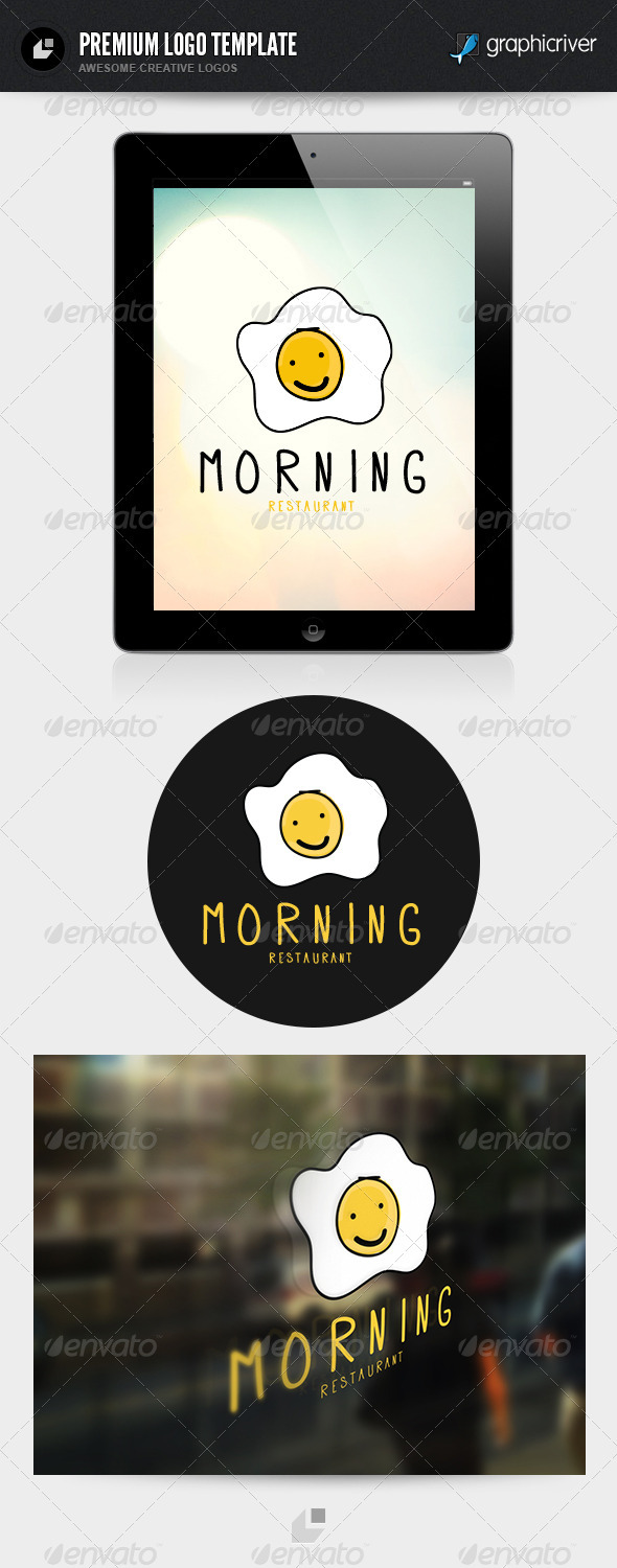Morning  Restaurant Logo - Food Logo Templates