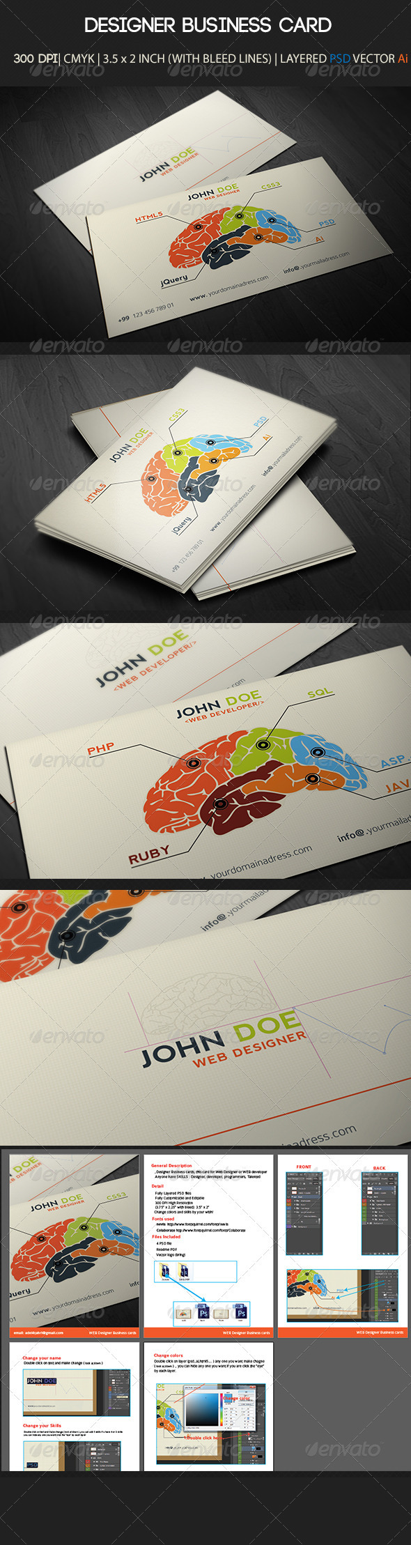 Designer Business Card  - Industry Specific Business Cards
