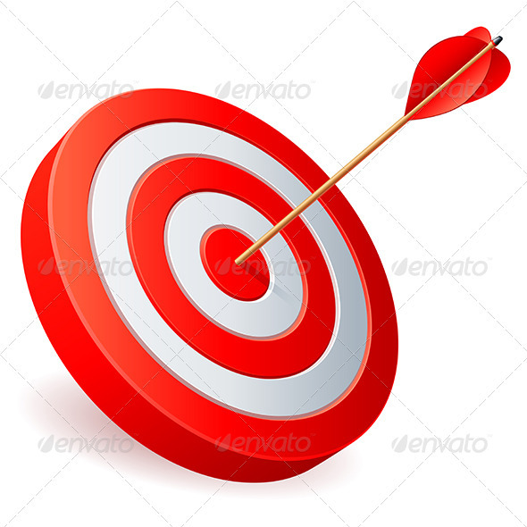 Target and Arrow - Sports/Activity Conceptual