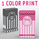 Beauty/Cosmetic Box; Single Color Tints Print - GraphicRiver Item for Sale