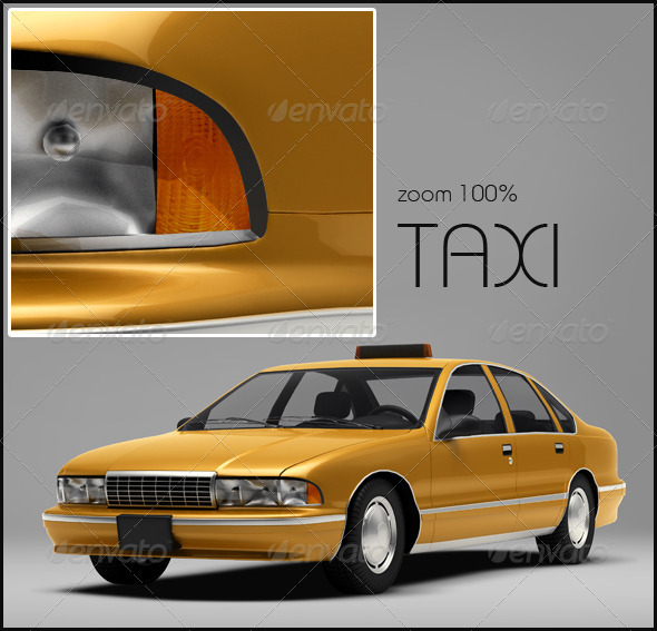 Taxi - Miscellaneous 3D Renders